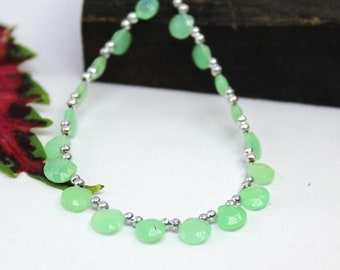 Chrysoprase Faceted heart briolette 6.5x6-5x5 mm | Mint Green chrysoprase faceted heart briolette | chrysoprase | sold set of 6 brio:- 64