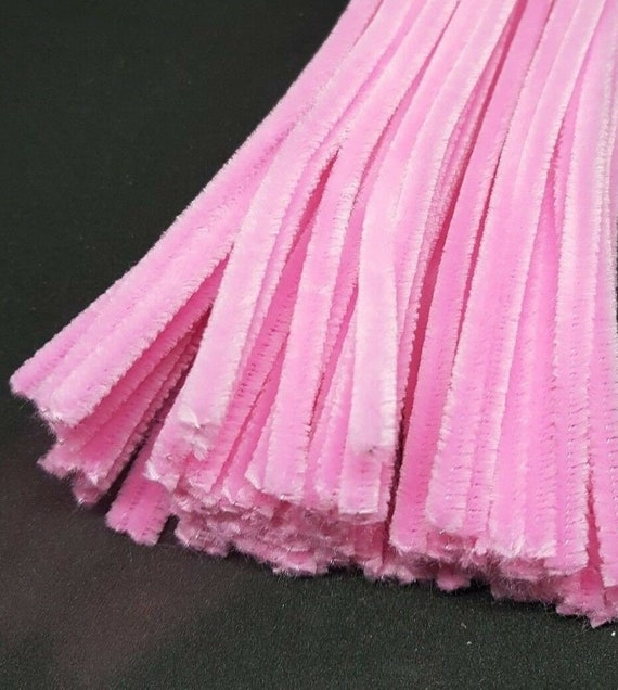 PINK 50 x Jumbo Premium Craft Pipe Cleaners Chenille Stems 300mm x 6mm