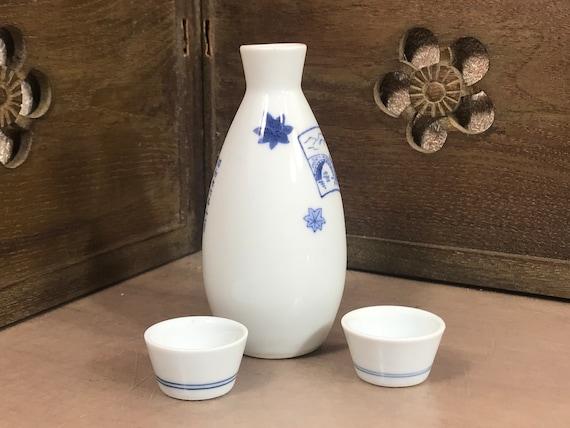 Japanese Sake Cup Set Ceramic Assorted Color Designs //Made in Japan 12 PCS