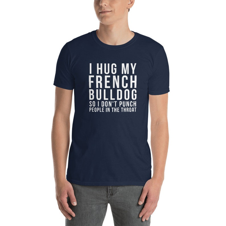 i Prefer Bulldogs Over People Short-Sleeve Unisex T-Shirt Really Simple Funny Bulldog Shirt