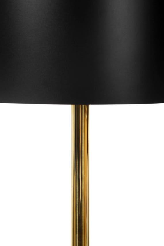 Modern floor lamp Black living room lamp Handmade wooden lamp Mid century modern lamp Stylish unique golden 50s modern lamp Designer lamp