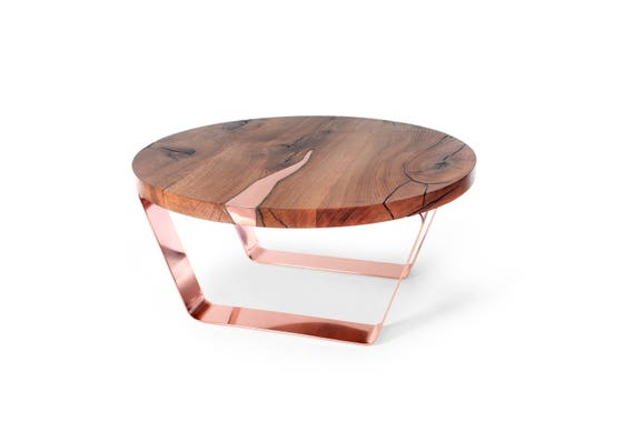 Cool Round Coffee Table Modern Copper Table Stylish Table With Copper Inlay Modern Table Round Table Exclusive Coffee Table Designer Table Lamtechconsult Wood Chair Design Ideas Lamtechconsultcom