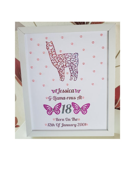 50 BIRTHDAY CARD PERSONALISED BORN IN YEAR AGE 18 40 70 21 80 90 60 30
