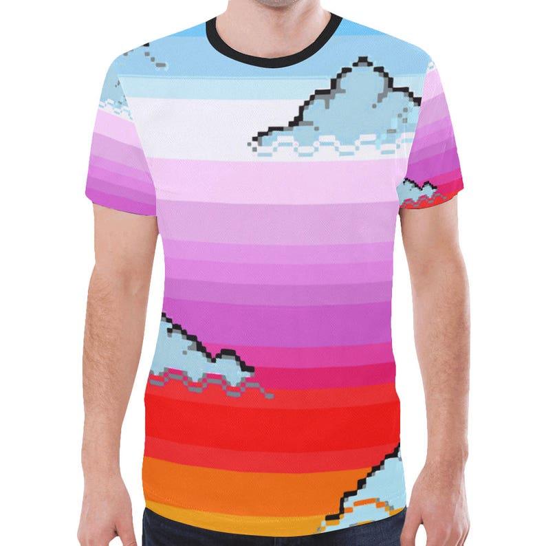 bb6021419980 Vaporwave tee Tumblr tee Aesthetic shirt Soft pastel grunge   Etsy