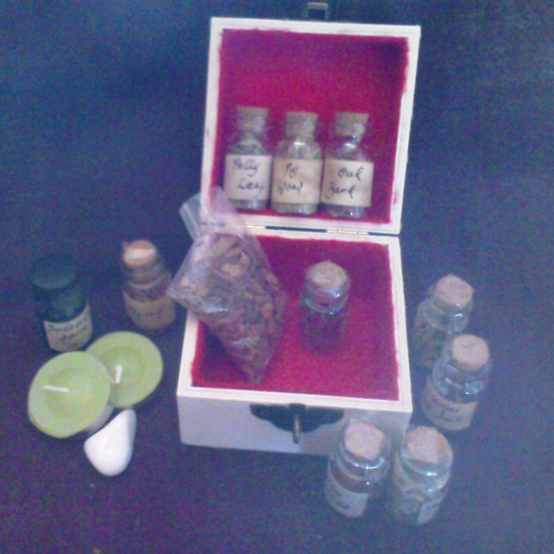 Hedge Witch Apothecary Herbs And More Boxed Set - Yule Spice  Pagan, Wicca,  Witchcraft