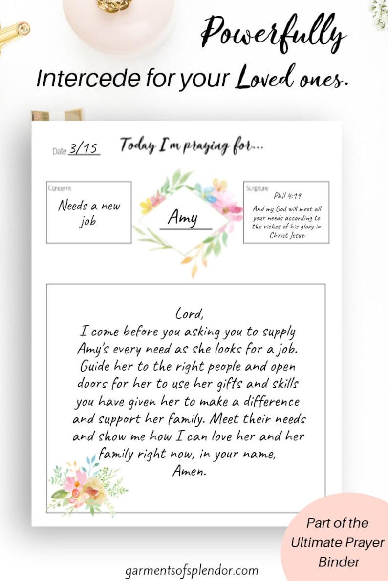 Printable prayer journal/ faith planner/ Bible study printables/ Bible  journaling kit/ Bible journal/ printable journal/ faith stickers