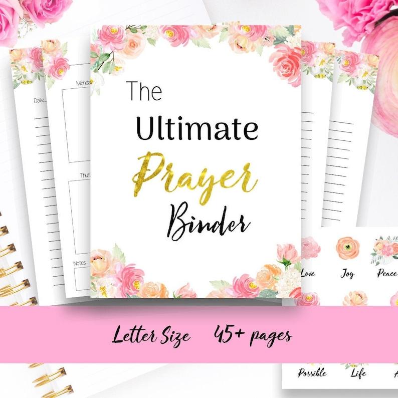 Printable prayer journal/ faith planner/ Bible study image 0