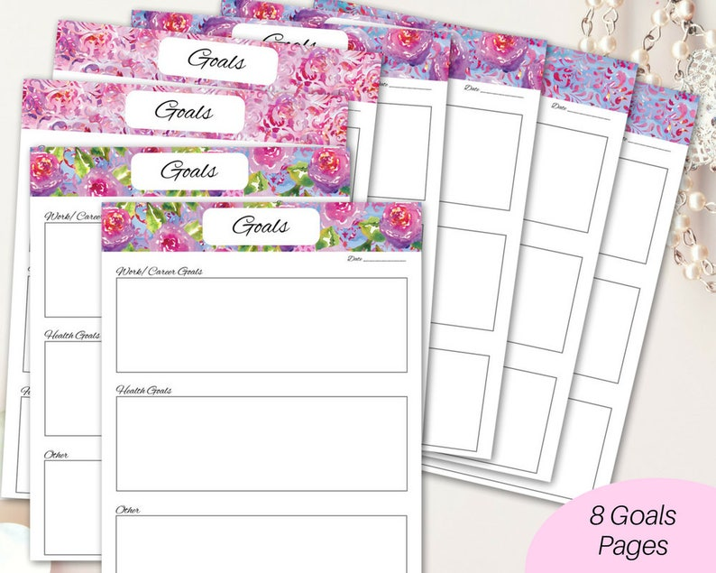 photograph regarding Goals Printable identify Printable Aims sheets/ ambitions printable/ Printable planner/ Christian planner/ Religion planner/ intent planner/ Bible review planner/ worksheets