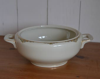 porcelaine couvert bol (sans couvercle) Zeh Scherzer, blanc avec de l'or