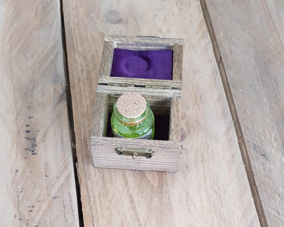 Larp potion mini box. made of wood and hand painted and aged etsy