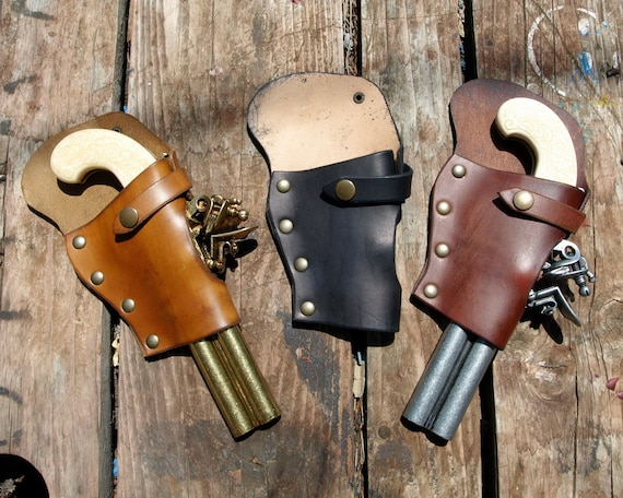 27adde441ed7c Flintlock Pistol leather Holster for pirates explorers and