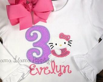 61abc7dd Hello Kitty Inspired Birthday Shirt, Girl's Birthday Shirt, Toddler Birthday  Shirt, Hello Kitty Shirt, Birthday Shirt, Hello Kitty Birthday