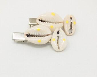 Beach Wedding Hair Pins, Cowrie Shell Hair Pins, Beaded Bobby Pins, Afrocentric Hair Pins, Cowrie Shell Hair Jewelry, Wedding Accesories