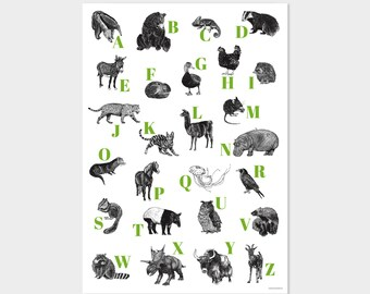 ABC poster (German alphabet)