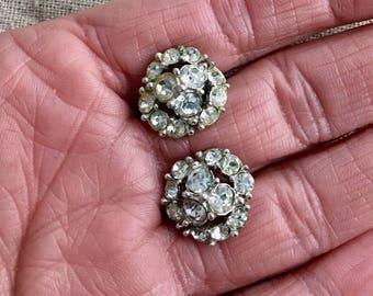 Bogoff vintage signed screw back earrings, signed, 1950's