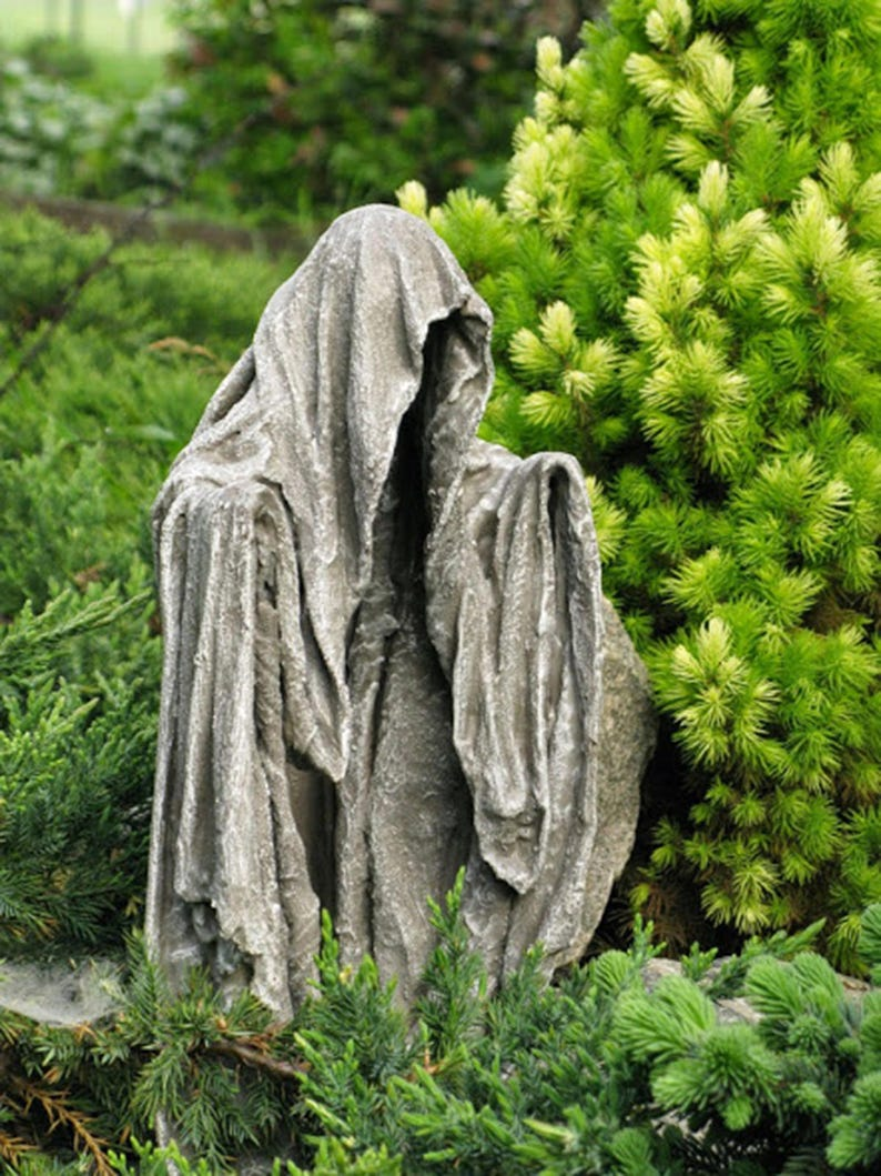Garden sculpture Ghost Outdoor sculpture Phantom Statue figure image 0