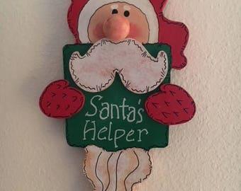 Wooden Santa's Helper