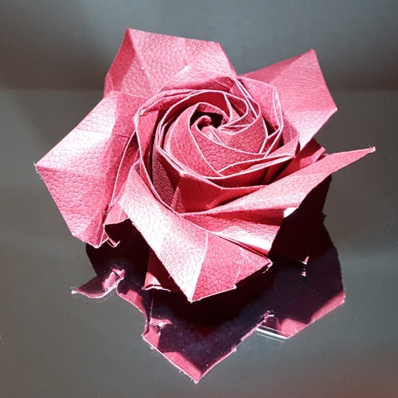 Purple Origami Rose by OrigamiPieces on DeviantArt | 570x570