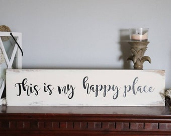 This is My Happy Place Metal Sign Vintage Style Embossed Sign