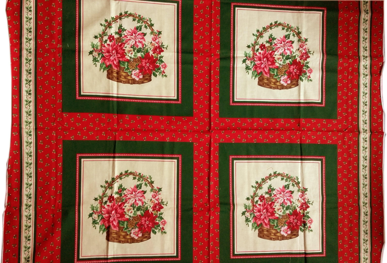 Vintages Fleurs Dans Ou Le Panier Coton Oreiller Ou Dans Une