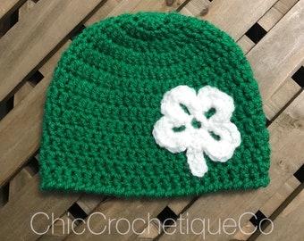 20bf0fe9946 St Patricks Day Hat   Womans Shamrock Hat   Shamrock Baby Hat   Irish Baby  Hat   Toddler Shamrock Hat   Adult Shamrock Beanie Hat