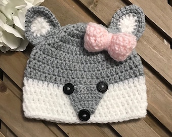 634196be23f Silver Fox Hat With Bow