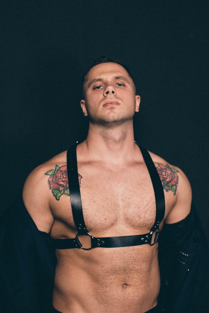 Leather Harness Men  Bulldog Mens Harness