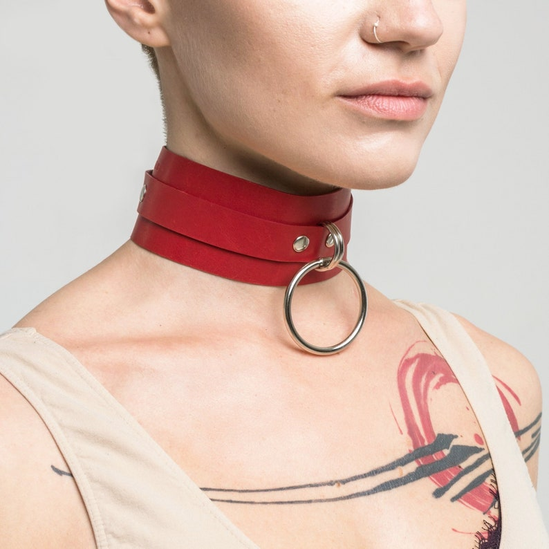 Leather BDSM Collar / Submissive Collar for Women | Etsy