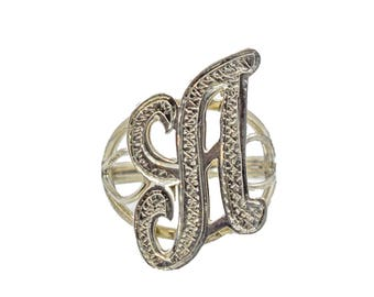 """Sterling silver ring with """"A"""" logo"""