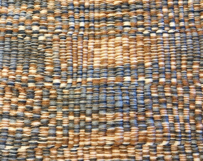3'x2' Sticks and #Stones #Mat (Brown, Gray, Orange, Cream) #Handmade #Doormat, Kitchen, Bathroom, Shower, Patio Indoor / Outdoor #Rug