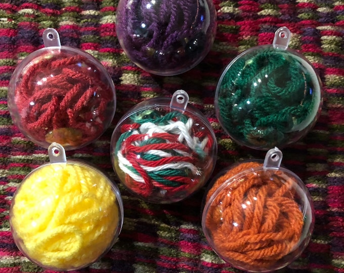 Handmade Christmas Ornaments, Set of 5, Comes in all colors