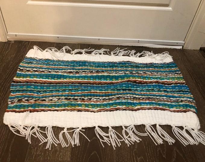 Peruvian style Door kitchen bath mat rug #doomat #handmade