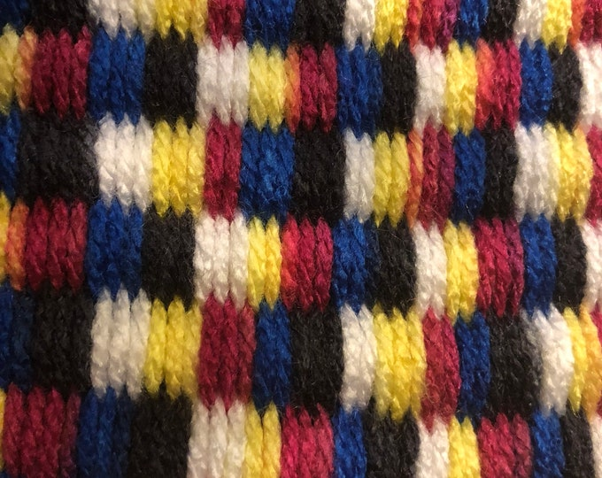 Carnival black blue fuchsia and yellow Handmade #Doormat, Kitchen, Bathroom, Shower, Patio Indoor / Outdoor Rug