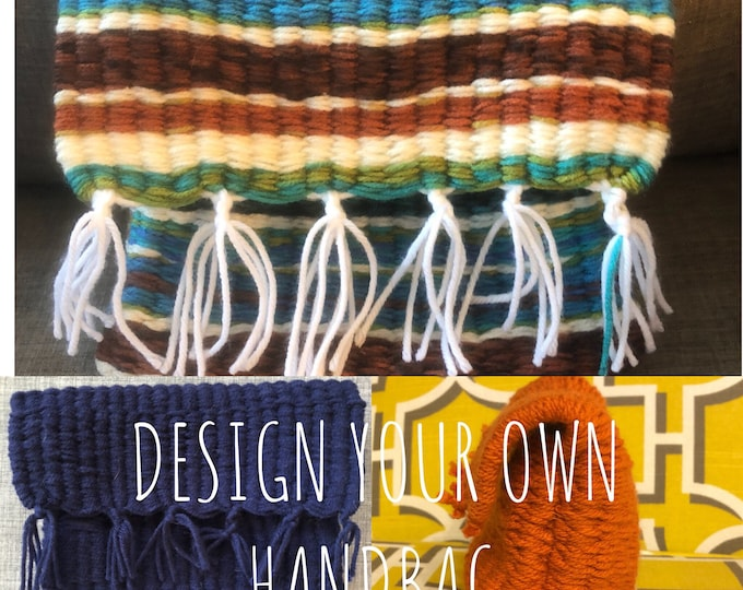 CUSTOMIZE YOUR OWN, Unique Style, Handmade, Handsewn Handbag or Purse with Tassels, Bag Insert, Machine Washable