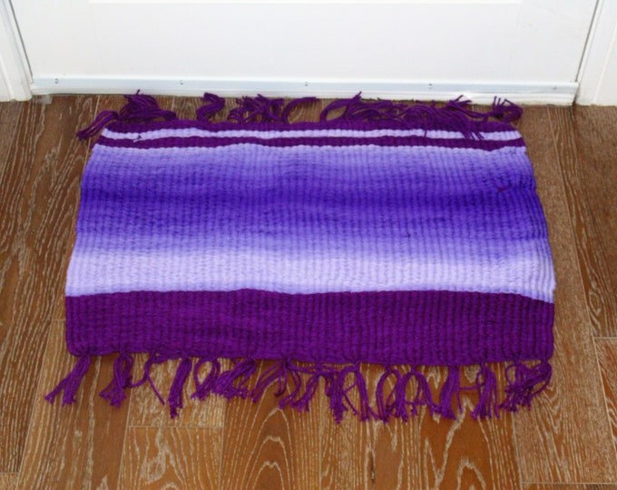 Purple Ombre Handmade #Doormat, Kitchen, Bathroom, Shower, Patio Indoor / Outdoor Rug