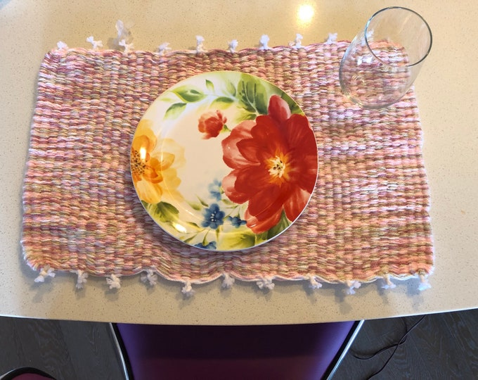 Handmade Pink Pastel Place Mat