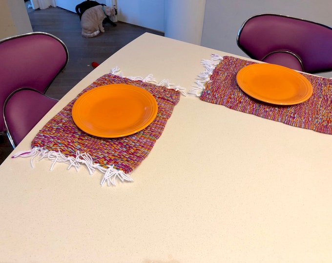 NEW #Handmade #Purple, #Orange, #Blue, #Green and #Red #PlaceMat