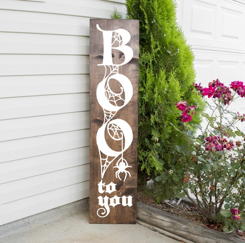 Boo To You  - Halloween Wooden Porch Sign