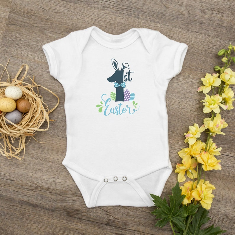 My First Easter Blue Bunny Design ~ Baby Bodysuit