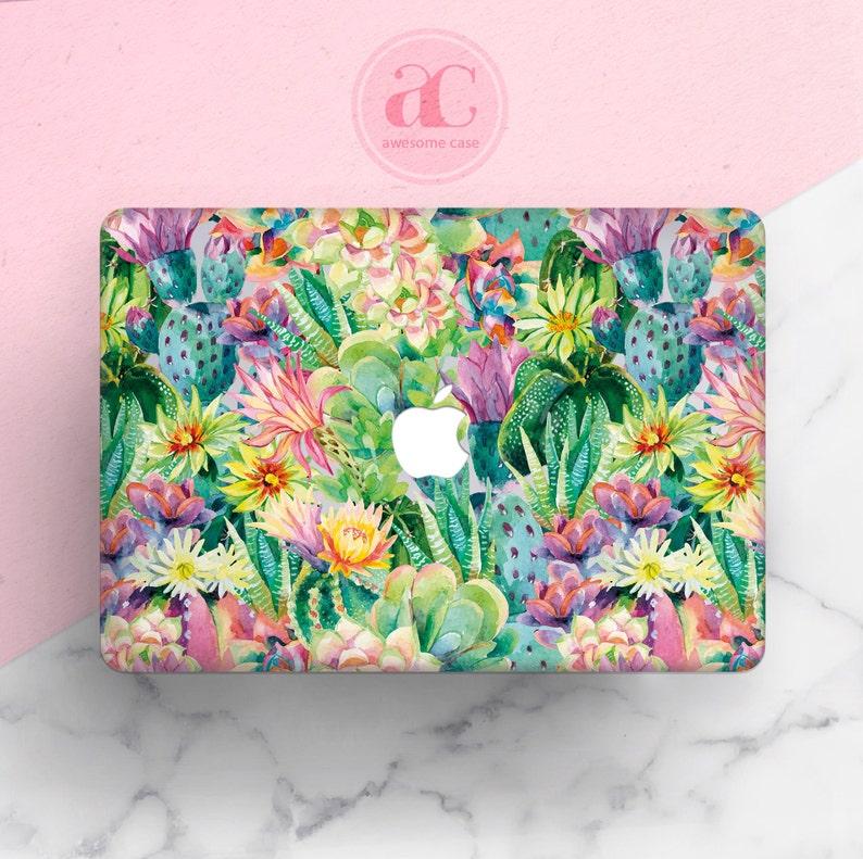 new arrival 896ff a185b Cactus Macbook Pro Case Succulent Macbook Air 13 Case Macbook Case Pro 13  Plastic Laptop case Macbook Pro 15 Case Macbook 13 2018 Case