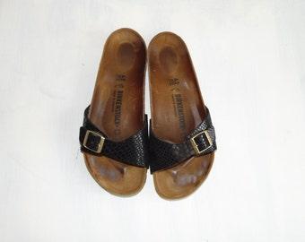 778f0aa0c 90s BIRKENSTOCK One strap slip Cork sole open toe sandals Size 42   US men s  10