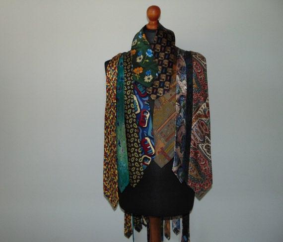 Vintage Set 10 silk ties Silk pattern necktie Men'