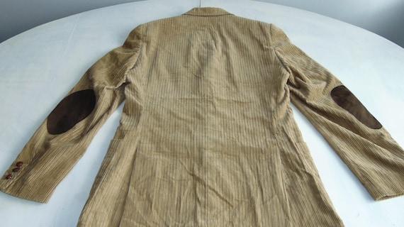 90s Men's corduroy blazer Beige corduroy jacket C… - image 4