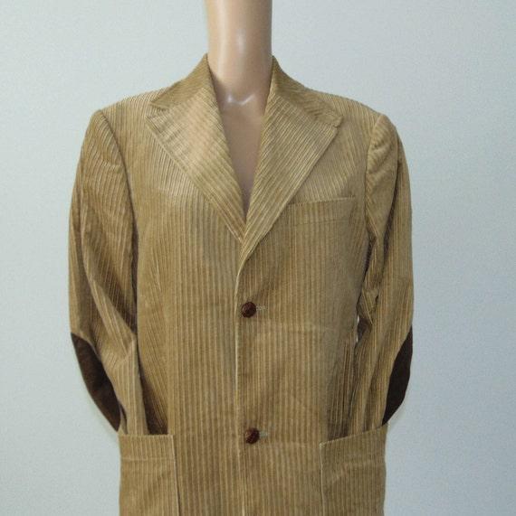 90s Men's corduroy blazer Beige corduroy jacket C… - image 2