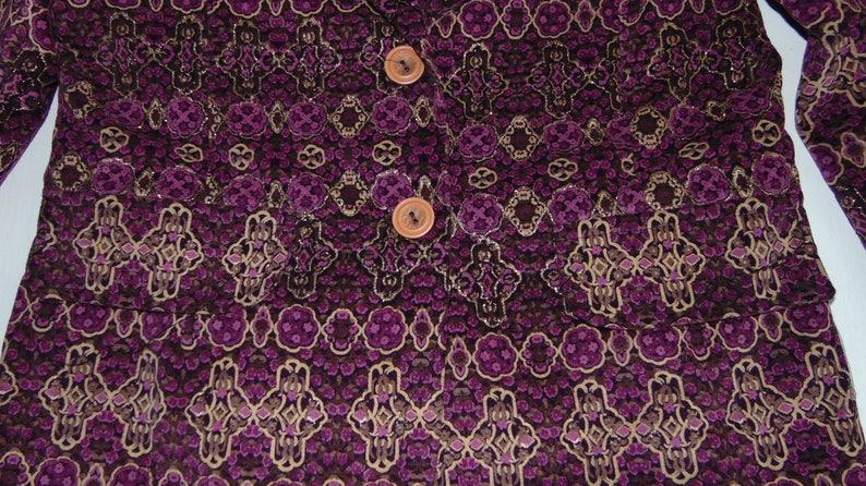 90s Purple shiny jacket Women/'s evening blazers Cotton cocktail jacket Party elegant jacket Size Medium