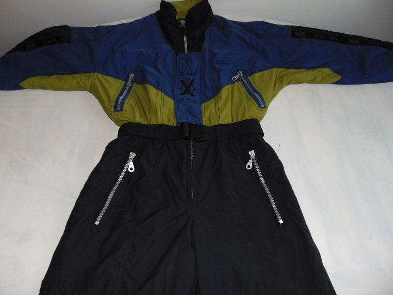 682a2a81d6 90s Men s ski suit Ski wear onesie One Piece Blue black