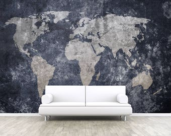 Vintage Old World Map Self Adhesive Peel And Stick 3D Photo Realistic Mural Wallpaper Wall Removable Earth W51