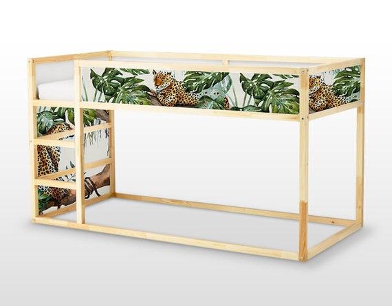 Letto Per Gli Ospiti Ikea : Adesivi rimovibili ikea kura letto ghepardi tropicale etsy