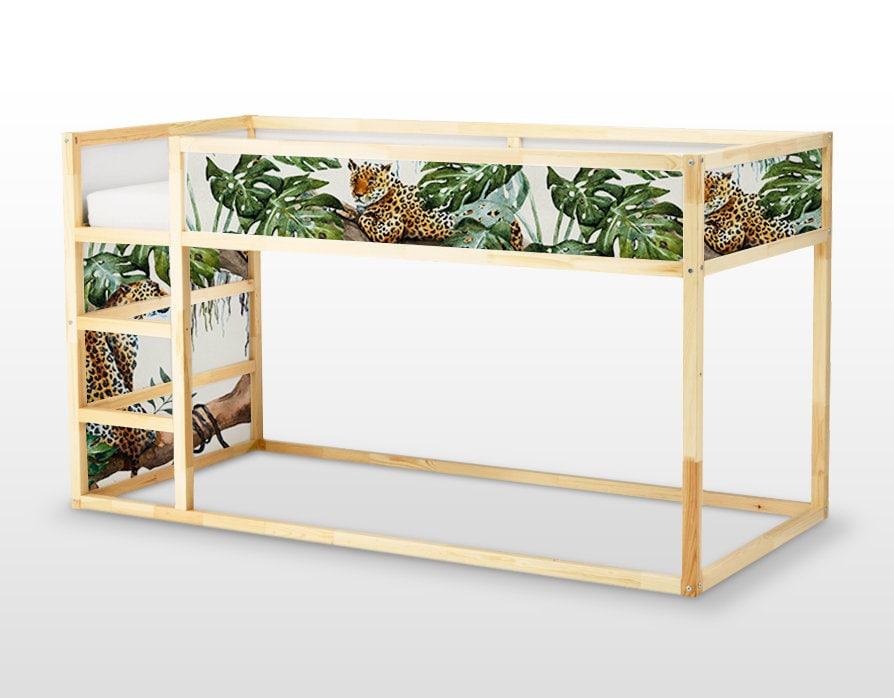 Ikea kura bed removable stickers tropical cheetahs ikea etsy - Stickers bambini ikea ...
