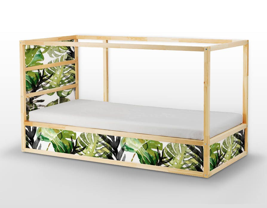 Ikea kura bed removable stickers tropical leafs ikea nursery etsy - Stickers bambini ikea ...